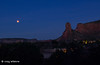 Moonset (craig lefebvre) Tags: sedona lefebvre moonset bluemoon lunareclipse castlerock