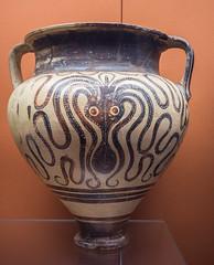 Mycenaean Octopus jar, ca. 1350 BCE (Ed Fulton) Tags: britishmuseum england greekantiquities london uk mycenae olympusomdem10ii olympusm1442mmf3556ez