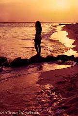 Sunset Silhouette (travelphotographer2003) Tags: sunset beauty druifbeach aruba woman beautiful beach silhouette caribbean traveldestination vacation beautyinnature relaxation curvy modelreleased thomasrfletcher sea ocean sand rock wife hot