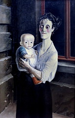 IMG_5404C Otto Dix 1891-1969.  Woman with child. 1921 Dresde. Gemälde Galerie Neue Meister. Albertinum. (jean louis mazieres) Tags: peintres peintures painting musée museum museo deutschland germany allemagne dresde gemäldegalerieneuemeister albertinum ottodix