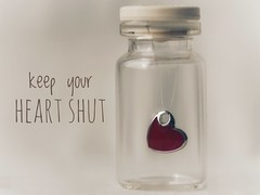 nice quote not to follow (raisalachoque) Tags: 7dwf quote flickrfriday myheartwillgoon heart macro macromondays inthebottle bottle