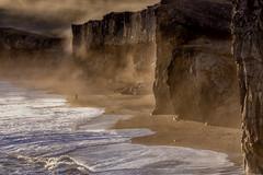 Iceland Dyrholaey (Sander Grefte) Tags: iceland dyrholaey beach dramatic lights light sunset zonsondergang licht goldenhour goldenlight cliff cliffs kliffen strand zee sea sandergreftecom nikon d7220 tamron