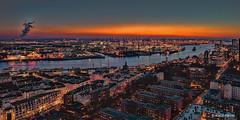 Hamburg aus der Luft - 07021803 (Klaus Kehrls) Tags: hamburg hamburgerhafen sonnenuntergang nachtaufnahme luftaufnahme elbe flüsse industrie panorama