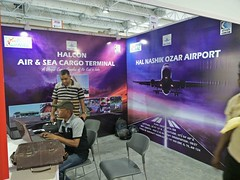 just few more hours to complete the setup Halcon Air and Sea Cargo Terminal, Air cargo india 2018 (aircargoindia) Tags: aircargo aviation logistics freight supplychain shipping
