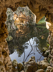 Grotto Island reflections (Graham Dash) Tags: crystalgrotto painshill grottoes reflections