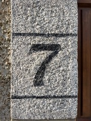 7 (5) (Bobfantastic) Tags: aberdeen scotland uk city urban granite numbers paint font texture decay historical preservation