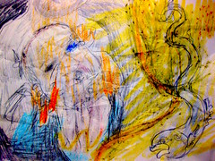 Del primo raggio T'abbaglia lo splendore (giveawayboy) Tags: pencil crayon eraser drawing sketch art fch tampa artist giveawayboy billrogers delprimoraggiot'abbaglialosplendore tobit tobias raphael angel azarias fish