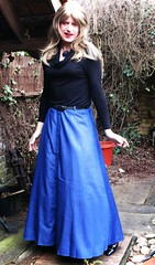 Better than Expected (Amber :-)) Tags: long chambray button down skirt tgirl transvestite crossdrerssing