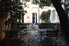 1677 (bluefootedbooby) Tags: giardino tavoli sedie foglie