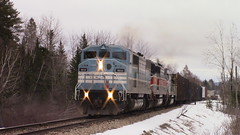 Job 1 East Outlet (MaineTrainChaser) Tags: trains train west westbound maine job1 cmq citx sd402 sd402f