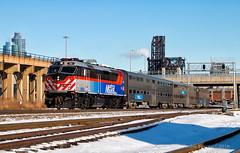Sharp Winnebago (Wheelnrail) Tags: f40phm2 locomotive emd railroad rail road metra bnsf racetrack chicago subdivision rails train trains dinky express winnebago passenger midwest cold winter