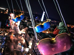 Enjoy the ride (GDDigitalArt) Tags: christmas edinburgh scotland winter amusements building city fairground lights market night rides stall urban