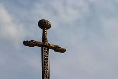 Sword of Avalarde (CPGCI) Tags: sword fantasy epic beautiful gold silver metal intricatedesigns celtic bluesky