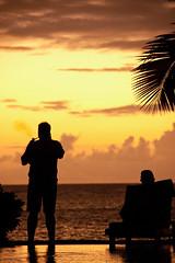 Man Who smokes (matteo.biancardi) Tags: sunset color pool man smokes mauritius sea sun
