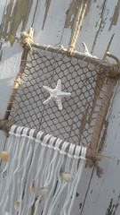 Wall hanging, dreamcatcher, shells, starfish, beads, driftwood, rope, netting, Jazzie Menagerie (Jazzie Menagerie) Tags: wallhanging dreamcatcher shells starfish beads driftwood rope netting jazziemenagerie