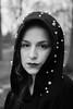 Lou (torivonglory) Tags: girl woman mädchen gesicht face portrait porträt actress winter beauty shooting frau canon blackandwhite bw sw schwarzweiss monochrome