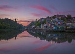 violet and blue bristol i love you (Wizard CG) Tags: long exposure landscape epl7 england architecture ed bristol ngc world trekker micro four thirds 43 m43 olympus mzuiko digital tourist attraction outdoor bridge clifton suspension longexposure sunset skyline river water nd filter sky