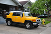 Toyota FJ (Canadian Pacific) Tags: 2017aimg9047 car auto automobile toronto ontario canada toyota yellow offroad rugged fj cruiser suv