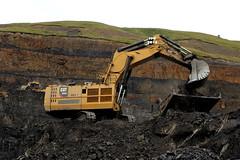 Caterpillar 6030 (Falippo) Tags: coal carbone excavator caterpillar cat occs hargreaves galles wales plantmachinery movimentoterra steinbruch baufahrzeuge escavatore caterpillar6030 miniera hirwaun finning