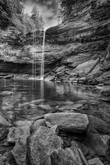 Lower Greeter Falls (psmithusa) Tags: waterfall blackandwhite bw nature rocks river sky trees natural recreation hike hiking beersheebasprings savagegulf lowergreeterfalls