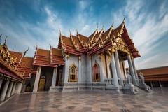 Marble temple (Bean Do) Tags: marble marbletemple temple pagoda cityscape budda buddist buddism bkk bangkok thailand siam longexposure sky cloudy skyline bluesky wat watbenchamabophit watbenchamabopit outdoor travel tourist touristdestination