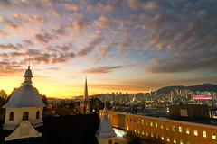 Sunset From the Gym (Jonathan F.V.) Tags: sunset vancouver downtownvancouver mountpleasant vancity bc hellobc explorebc beautifulbc explorecanada canada britishcolumbia church