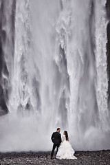 Ashley & Johnny (LalliSig) Tags: wedding photographer iceland summer july portrait portraiture people water waterfall skógafoss