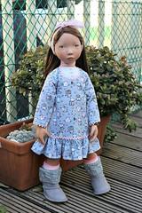 A new dress for Jo... (dambuster01) Tags: zwergnase junior 55cm miriam vinyl doll sewing sewingbysharoninspain 2018