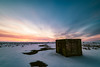 Bunker (jarnasen) Tags: nikon d810 nikkor 1635mmf4 tripod nisi nd1000 longexposure le morning sunrise sun dawn sky clouds nordiclandscape landscape landskap sweden sverige scandinavia wideangle bunker röudden roxen frozen ice snow vidvinkel cold nature östergötland outdoor sättuna copyright color järnåsen jarnasen geo geotag gallery building military ruin composition linköping