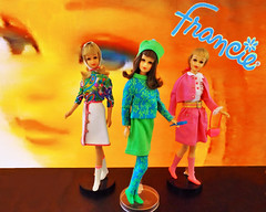 HERE'S FRANCIE! (ModBarbieLover) Tags: francie mod doll mattel fashion brunette blonde tnt 1966 1967 1969 groovy stockings outfits