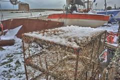 """""""nasse"""" (maurizio.s.) Tags: beach spiaggia abruzzo martinsicuro pesca fish landscape barche boats neve snow"""