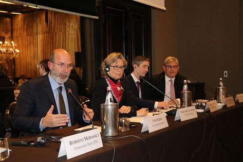 Vito Crimi of the Five Star Movement briefs OSCE PA observers, Rome, 2 March 2018