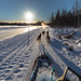 along the ice road