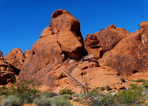 Stairway to Petroglyphs, Valley of Fire, NV 2014