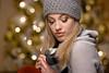 Kristina - Studio Portrait (Winter look) (bonavistask8er) Tags: nikon d7100 85mm model portrait beauty fashion hat sweater scarf winter tree bokeh strobist removedfromstrobistpool nostrobistinfo seerule2