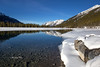 Winter reflections (Canon Queen Rocks (1,870,000 + views)) Tags: snow water winter reflections nature kananaskis spraylakes stones mountains white bluesky sky blues rockies alberta canada momentsbycelinecom rock landscape landscapes scenery scenic