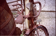 Rusty Bicycle (nickant44) Tags: film scan analog retro vintage 35mm rust bicycle adelaide hills australia