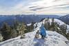 Kodak moment on South Bessemer (johnwporter) Tags: hiking snowshoe cascades mountains nationalforest mtbakersnoqualmienationalforest southbessemer 徒步 雪鞋行 喀斯喀特山脈 山 國家森林 貝克山史諾夸米國家森林 南貝瑟默 labrador yellowlab 拉布拉多 黃拉不拉多