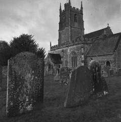 Avebury Church (Mark Dries) Tags: markguitarphoto markdries hasselblad500cm distagon 50mmf40 fp4 ilford 6x6 mediumformat film filmphotography rodinal 125 1000 10 uk avebury