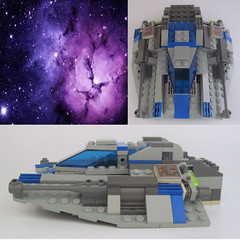Modified Snowspeeder side & top view (Quickblade22) Tags: space ship starfighter