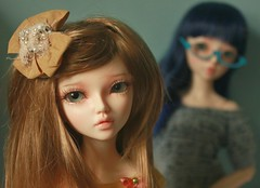 Manon and Brooke (tea with tigers) Tags: bjd manon brooke minifee doll