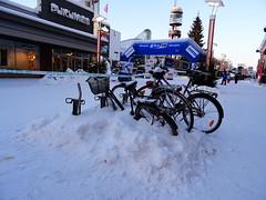 Parking your bike for the winter (Odddutch) Tags: rovaniemi lapland finland lappi sami suomi bike parking winter snow sneeuw fiets bicycle 5photosaday