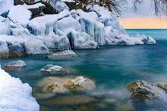 Frigid Waters. Prices Of Wales Park, Toronto, Ontario, Canada. (mikemccumber) Tags: winter ice snow nikond3200 longexposurephotography longexposure toronto ontario canada