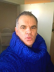 Royal Blue Alpaca Wool Turtleneck 3 (jeremyv3) Tags: selfie extreme knit wool obsession fetish alpaca blue sweater cowlneck turtlenecks turtleneck