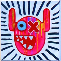 Stickers of Amsterdam ox-Alien (Marco Braun (In holidays)) Tags: holland walart graffiti stencil streetart black white weiss blanche noire schwarz werft amsterdam niederlande netherland nsdm sticker 2017 oxalien totem indian colourfiul coloured farbig bunt multichrom square quadrat carré holandniederlande