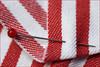 Stuck. Vaulting stick in the carpet? (Gudzwi) Tags: nadel needle stecknadel pinforsewing streifen stripes linesandstripes linienundstreifen stecken stuck macro makro mm hmm detail macroorcloseup macromondays macromondaysfebruary19fastener fasteners pin redandwhite rotweis rotundweis nähen sewing stoff cloth textil textile fabric texture textur sruktur structure gewebt woven simple schlicht