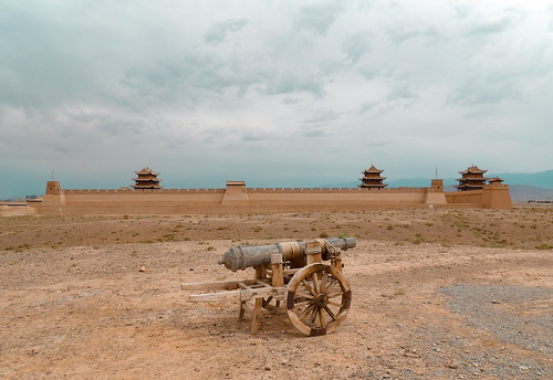 Visite du fort de Jiayuguan