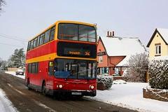 Trident in the Snow (Chris Baines) Tags: ipswich buses dennis trident alexander alx 400 stutton 1029 manningtree lx04 fyb