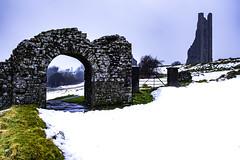 Trim - Snow 2018 (jim2302) Tags: stmarysabbey abbey st arch gate gateway sheeps snow winter 2018 beast from east fuji fujifilm xt20