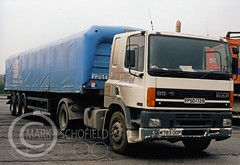 M783 LEYLAND DAF 85 360 (Mark Schofield @ JB Schofield) Tags: jim taylor transport road commercial vehicle lorry truck wagon tipper tanker artic eight wheeler haulage contractor bulk haulier tractor unit erf erfeseries